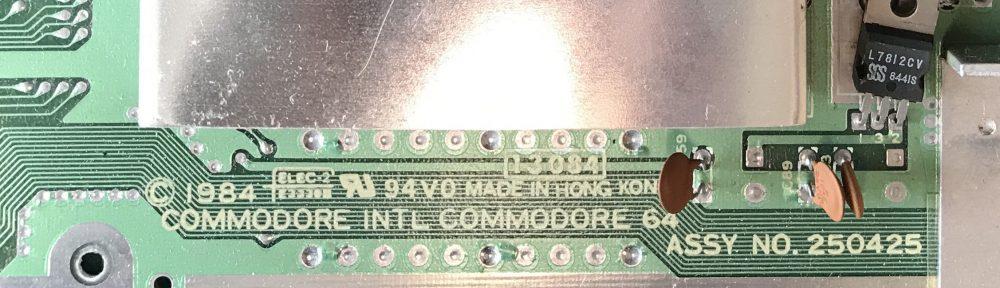"C64 Mainboard Assy No. 250425 ""Repair"""